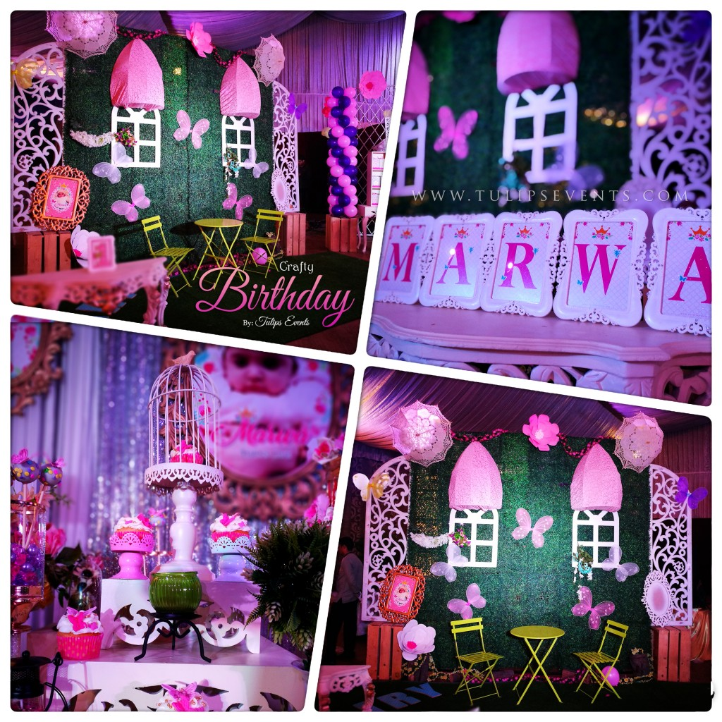 stunning crafty themed birthday for girls tulips events in Pakistan