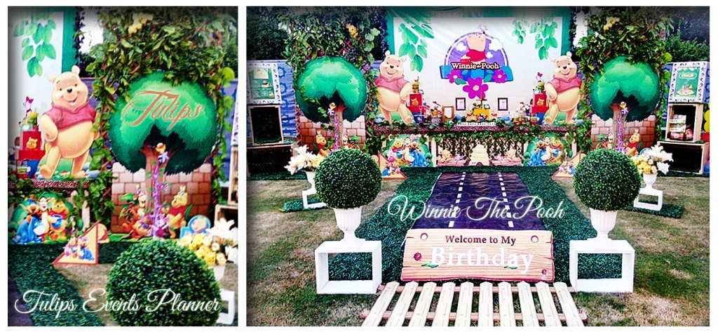 winnie the pooh birthday party theme decoration ideas in Pakistan