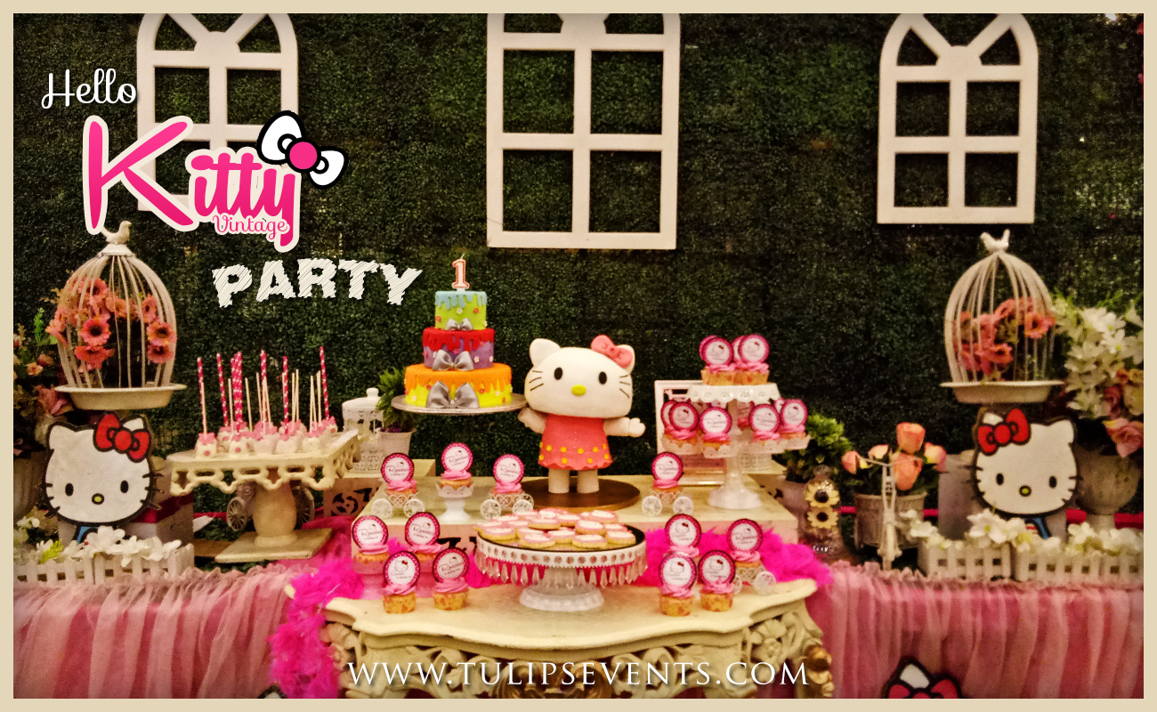 hello kitty themed party backdrop decor ideas in Pakistan-