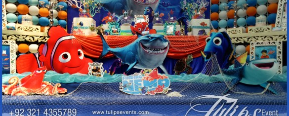 Finding Nemo Theme Party Decoration Ideas in Pakistan (9)