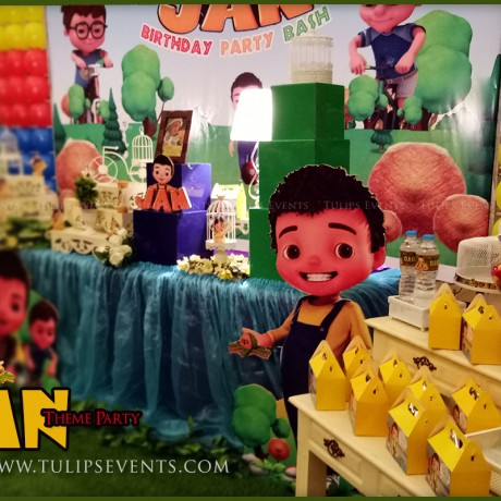 Jan cartoon theme party