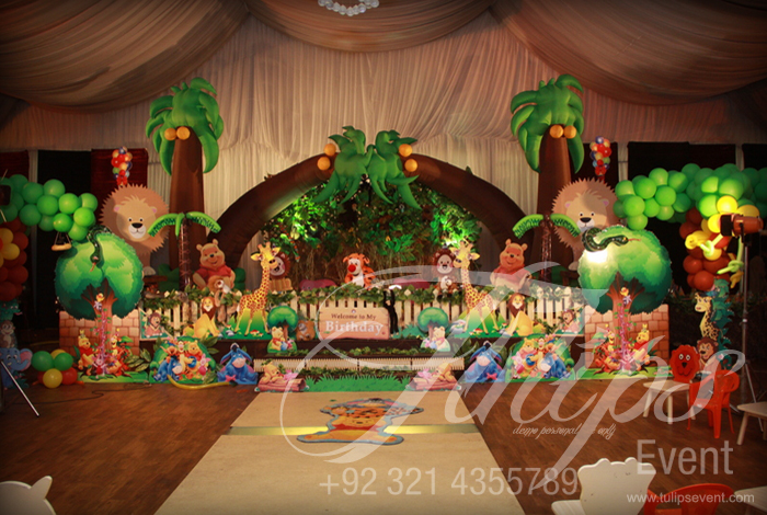 Jungle Birthday Party Theme Ideas Tulips Event 19