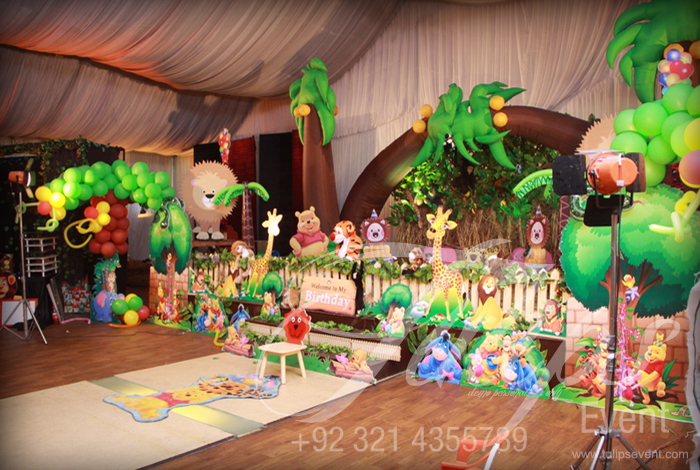 Jungle Birthday Party Theme Ideas Tulips Event 35