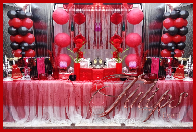 Sweet 16 Themed Party Best Birthday Party Planner In Lahore Pakistan Thematic Birthday Planner