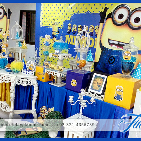 Mask Minions Themed Birthday Party