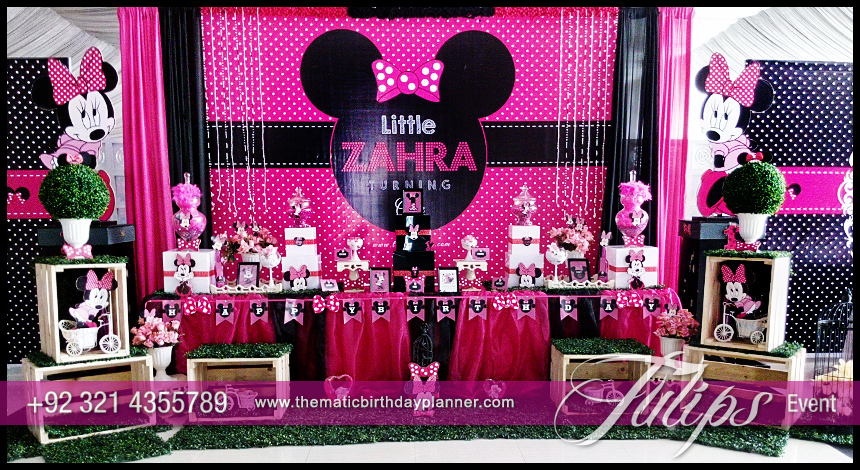 Minnie Mouse Party Theme Decoration Ideas In Pakistan