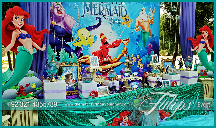 Little Mermaid Party Theme Decoration Ideas In Pakistan