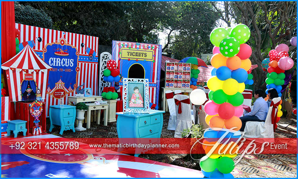 circus themed birthday party ideas  supplies and planner