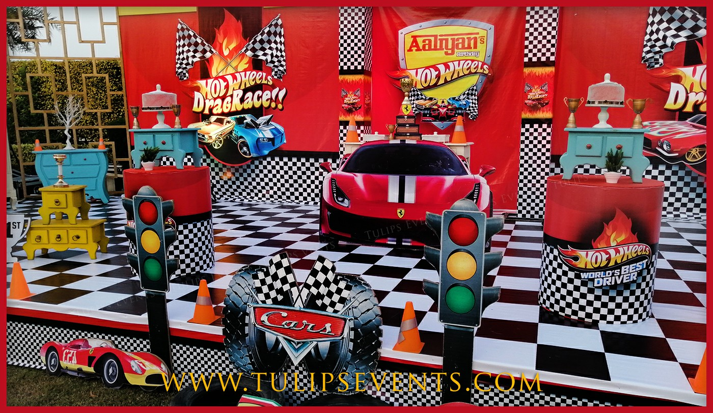 Hot Wheels Car Birthday Party Decorations In Pakistan Birthday Planners